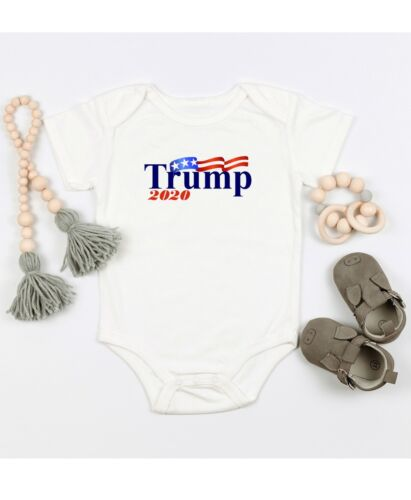 Donald Trump 2020 Political Gift Cute Infant Fun Message Baby Novelty Bodysuit