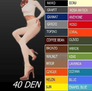 Femmes-Collant-Collant-Microfibre-Micro-fibre-Mat-Opaque-40den