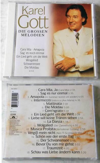 Karel Gott - Die grossen Melodien / Die Moldau,... 1995 Polydor CD TOP