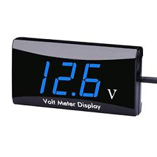 Dc 12v Car Digital Voltmeter Gauge Aimilar Led Display Voltage Volt Meter Blue