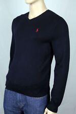 Polo Ralph Lauren 2XB Navy Blue Pima Cotton Sweater Red Pony NWT