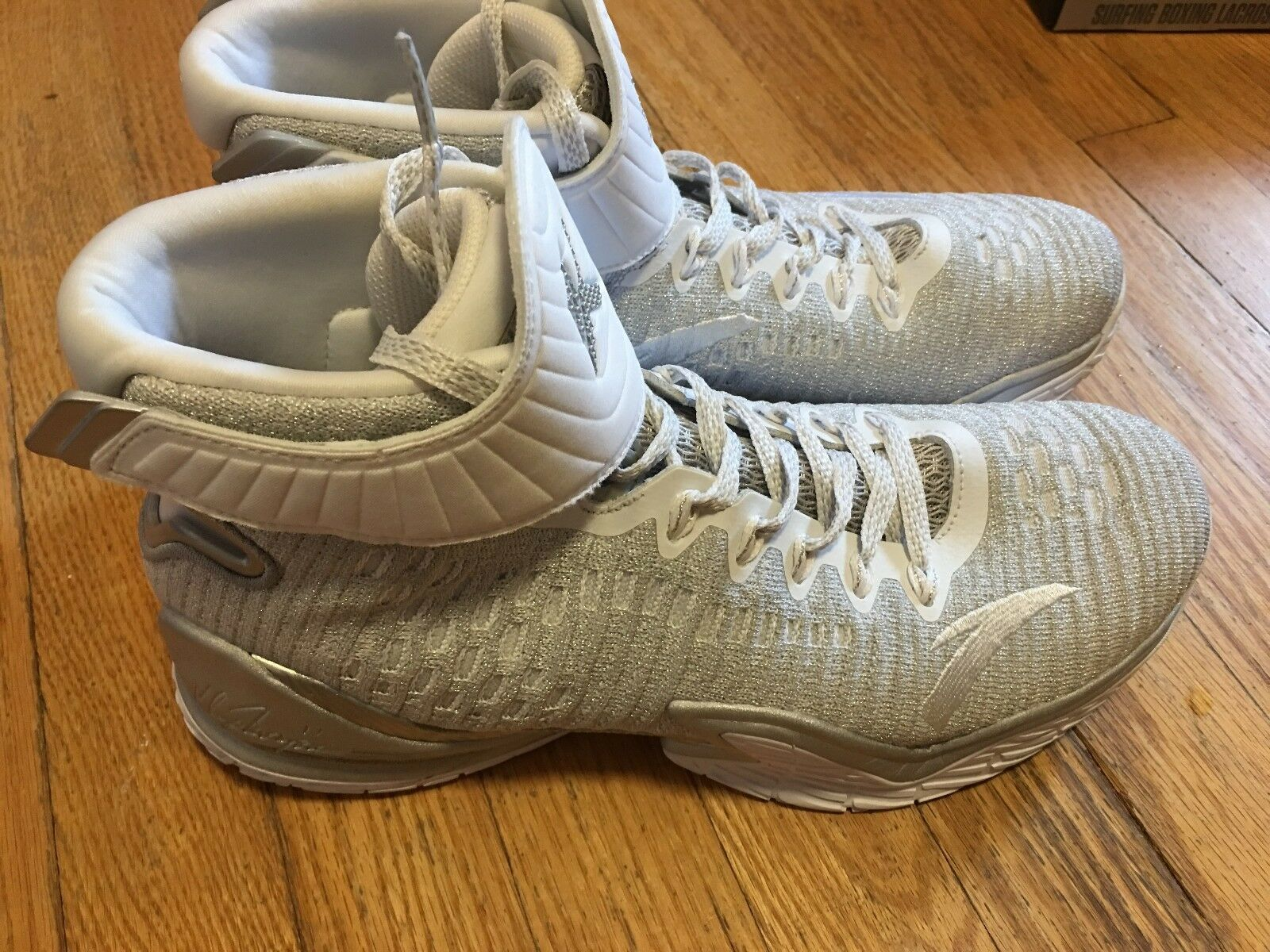 Anta KT3 all star game silver Klay Thompson KT 3 sz 10.5 Worn 2x City of Angels