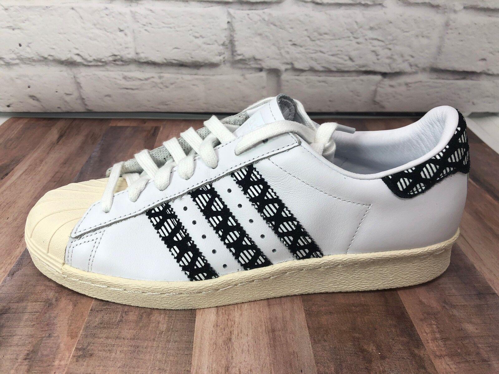 Adidas Superstar 80's Retro Samba Flux Black White Rare BY9074 Women's Sz 9