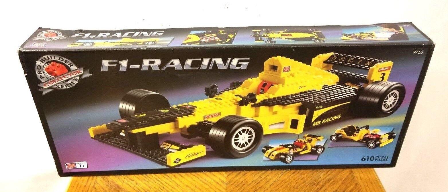 VNTG Mega Bloks Pro Builder F1 Racing Set USED