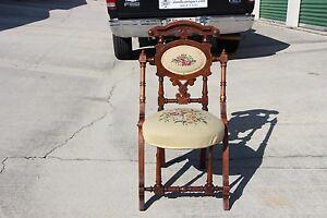 Fabulous Walnut Victorian Hunzinger Needlepoint Chair Ca