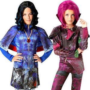 Details about Disney Descendants Girls Fancy Dress World Book Week Day Kids  Movie Costumes New