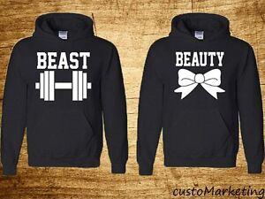 Couple Hoodie Beauty And Beast Perfect Couple Sweatshirts