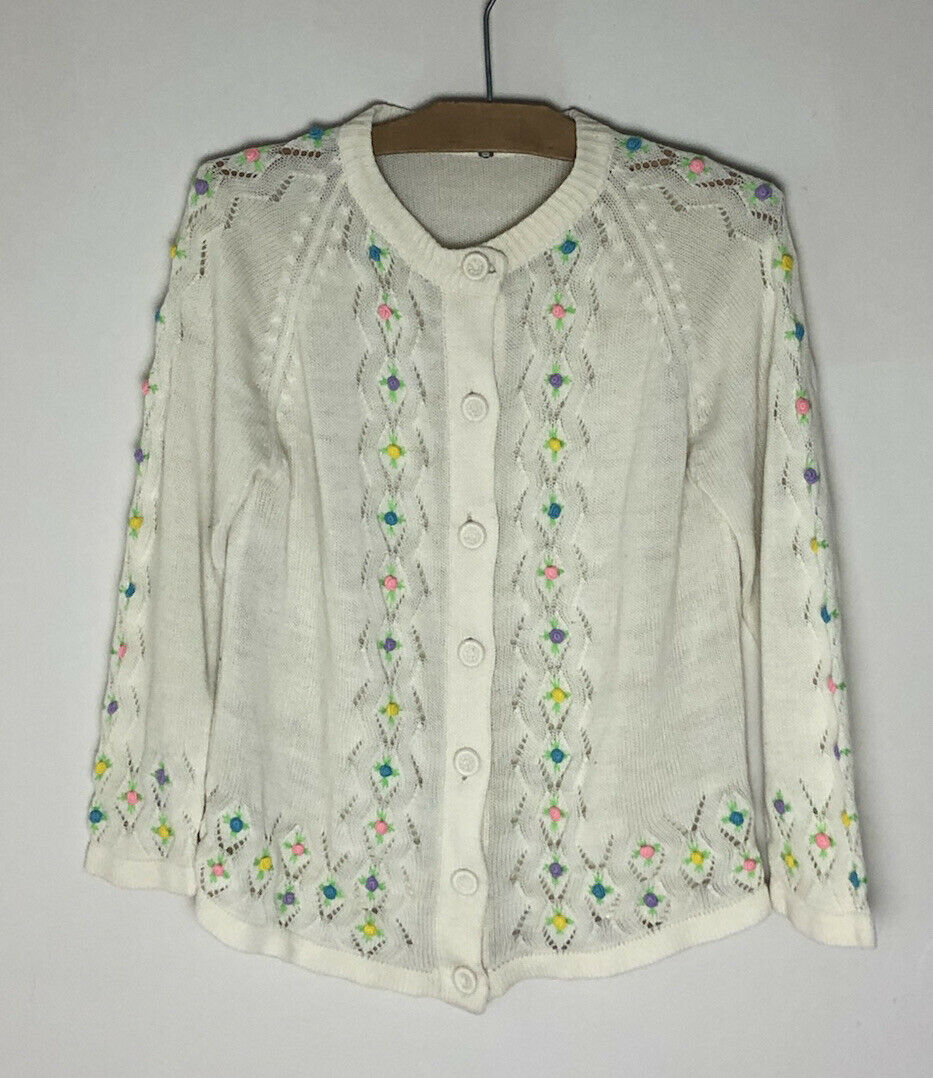 Vintage Cottagecore Fairycore Embroidered Floral … - image 4