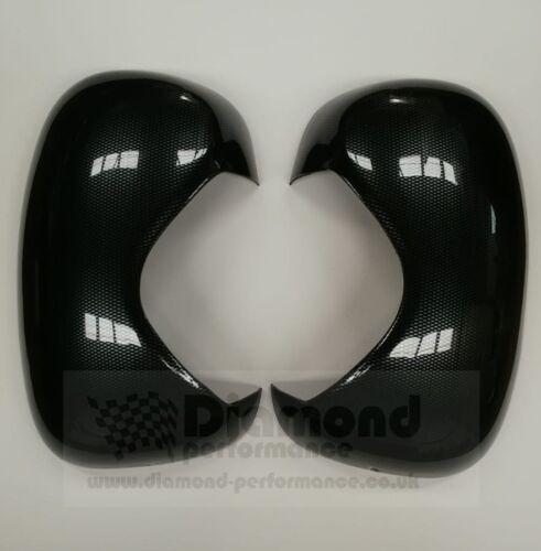 Gauche /& Droite 2006-2013 RENAULT TRAFIC fibre de carbone effet wing mirrors Covers