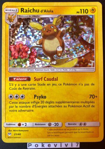 Carte Pokemon RAICHU 21//40 HOLO MC DONALD/'S 2019 Soleil et Lune SL FR NEUF
