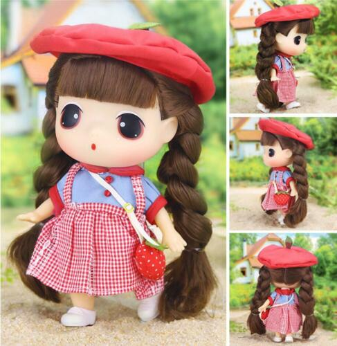ddung Big Eye Doll w// Strawberry Skirt Suit for Girlfriend Girls Toy Gift 7/""
