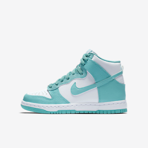 size 40 77dc7 99f33 Image is loading Nike-YOUTH-Dunk-High-GS-Island-Green-SIZE-