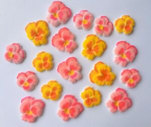 24-Edible-Sugar-Pansie-Flowers-Cupcake-Toppers-Decoration-Mothers-Day-Gift-Cake