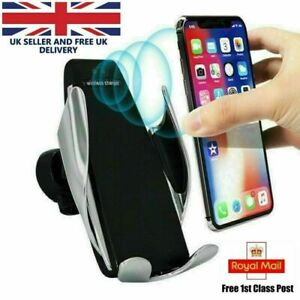 Wireless-Car-Charger-Automatic-Clamping-Fast-Charge-Mount-Air-Vent-Phone-Holder