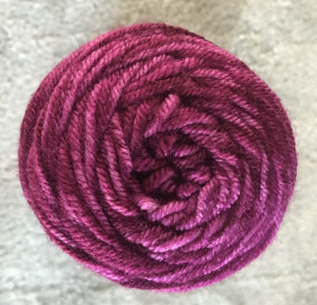 I LOVE THIS YARN 5 oz New 4 Ply Med Worsted STONEWASH Berry Hobby Lobby 252 Yds