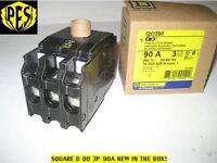 In Box Square D Qo390 3 Pole 90 Amp Circuit Breaker - Qo Plug In 3 Phase