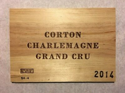 1 Rare Wine Wood Panel Corton Charlemagne Grand Cru Vintage Crate Box 4/18 494 To Invigorate Health Effectively Wine Bags, Boxes & Carriers