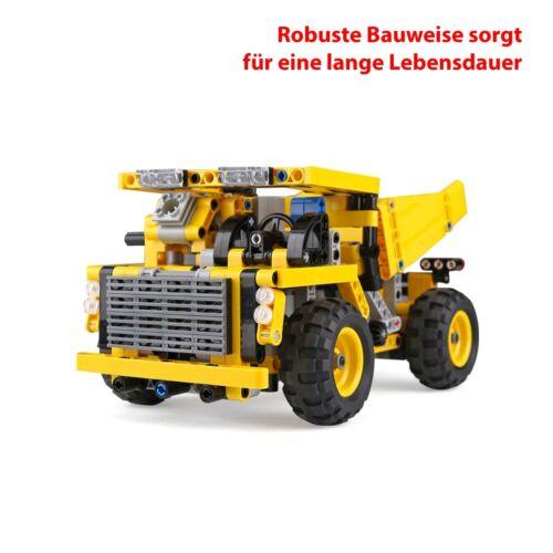 Truck RC ferngesteuerter Kipper LKW aus Bausteinen mit Fernbedienung mit Akku