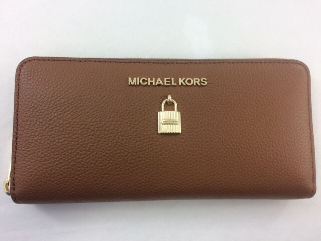 0c398d0b3637 New Authentic Michael Kors Leather Adele Zip Around Continental Wallet  Luggage