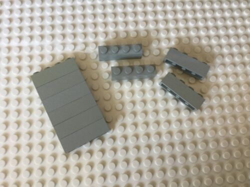 10 X Lego 3010 Old//Vintage Light Grey 1 x 4 Brick Star Wars//Castle//Space//Creator