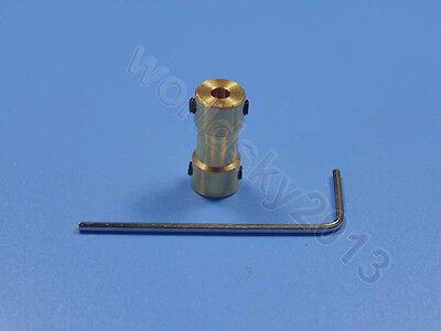 Brass Motor Shaft Connector Coupling Coupler Transmission Connector 2//3//4//5//6MM