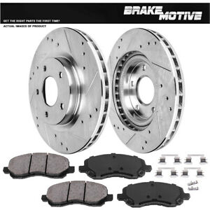 Front-Drill-Slot-Brake-Rotors-Ceramic-Pads-For-Outlander-Avenger-Lancer-Sebring