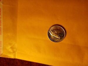 Canada-1967-Bobcat-25-Cent-Rare-Silver-Coin-ID-AC
