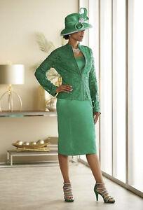 NEW WOMENS ASHRO EMERALD GREEN DARIANNA JACKET DRESS PLUS SIZE 24W ...