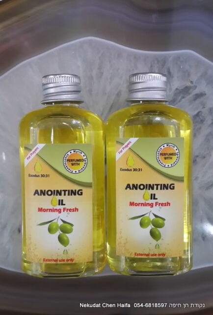 2 Anointing Oil Pure Galilee Virgin Olive Oil Frankincense Myrrh 100 Ml Each