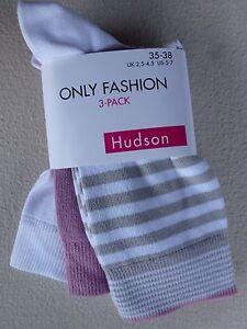 HUDSON-Damen-Socken-ONLY-Kurzsocken-mit-Komfortbund-3er-SPARPACK-Gr-35-38-39-42