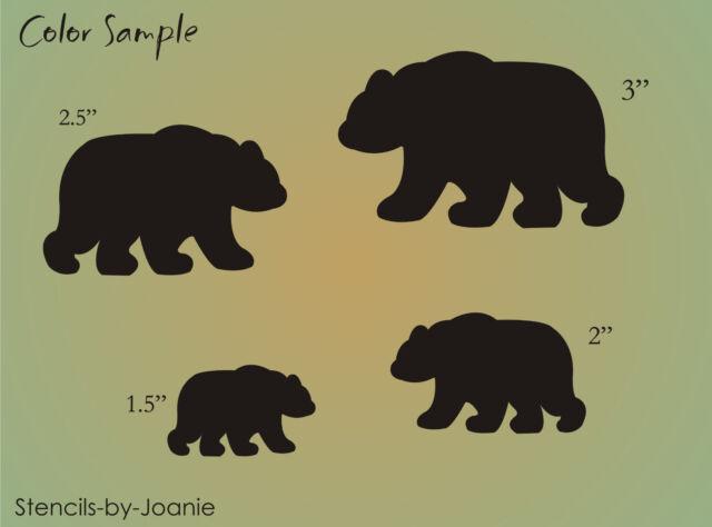 STENCIL Lodge Rustic Black Bear Animal Shape Scrapbook Craft Art Signs U Paint