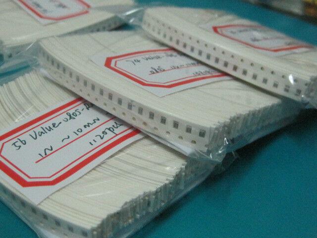 0805 SMD Resistor Assorted  74 Value kit (1 ohm~ 10M ohm) 1% 1480pcs