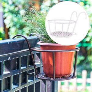 1x Iron Art Hanging Baskets Flower Pot Holder Patio Balcony Porch Fence Planter