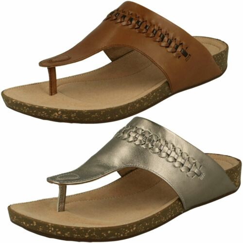 Un Perri Vibe * Ladies Unstructured By Clarks Toe Post Sandals