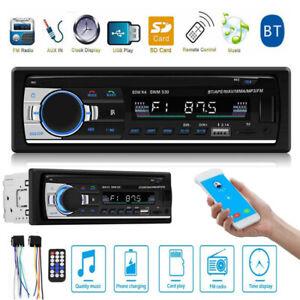1Din-Coche-Radio-Bluetooth-Manos-Libres-Estereo-Aux-Fm-Tf-Audio-MP3-Reproductor