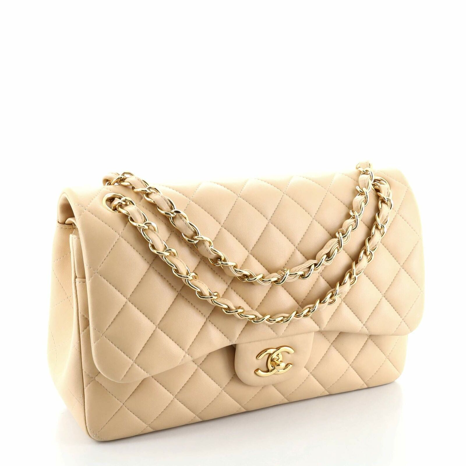 Chanel Classic Double Flap Bag Quilted Lambskin J… - image 2