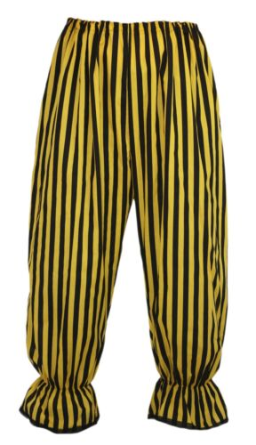 Adults Long Yellow /& Black Vertical Stripe Bloomers