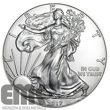 USA - 1 Dollar 2017 Silver Eagle - Walking Liberty 1 Unze Silber in Stempelglanz