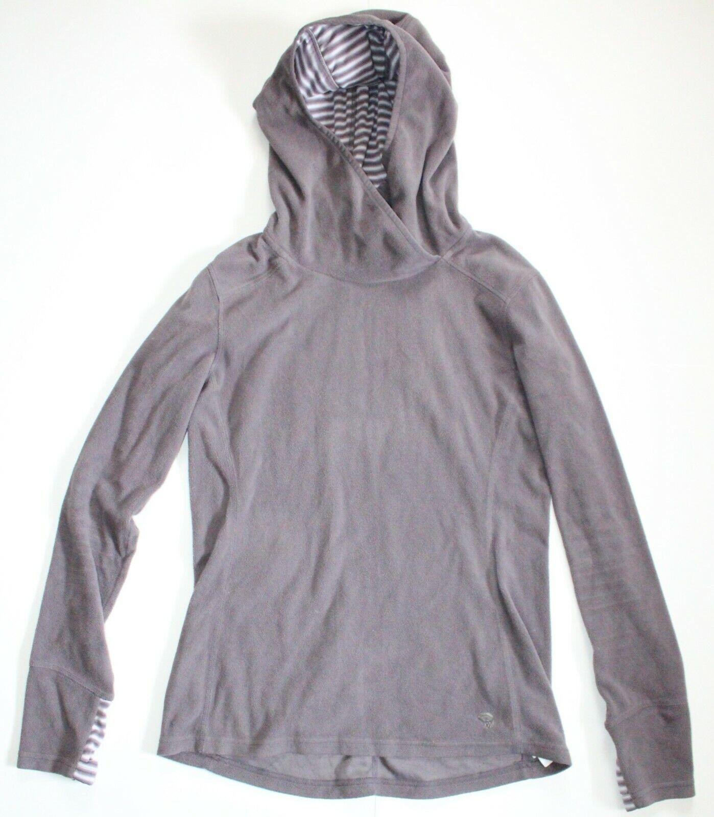 Mountain Hardwear • Purple Hooded Fleece Pullover Hoodie Womens • Size S