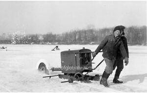 Photo-1909-Barron-Lake-Michigan-Ice-Industry-Cutting-Ice