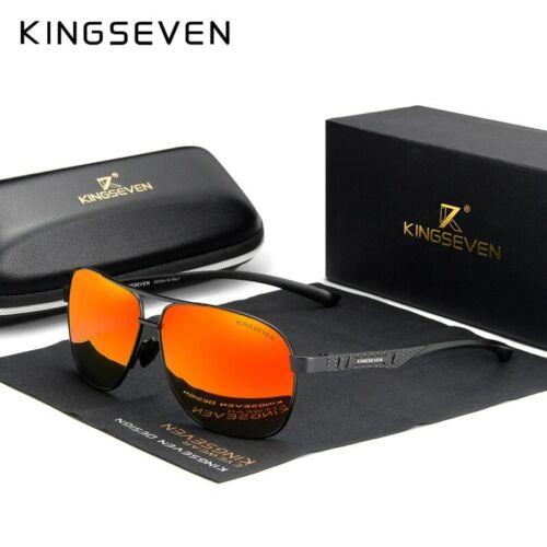 KINGSEVEN Aluminum Sunglasses Set Polarized UV400 Casual Men Glasses with BOX