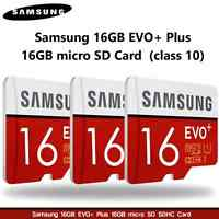 Samsung 16gb Evo+ Plus 16gb Micro Sd Sdhc Card (class 10) - Mb-mc16d