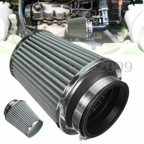 """3/"""" 75mm Air Filter Clean Intake For Car High Flow Short RAM//COLD Round Cone !"""