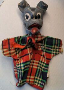 Vintage 1950's Walt Disney Gund Tramp Dog Hand Puppet Rubber Cloth