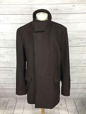 Women's REISS Coat - XL UK16 - Brown - Wool Blend - Great Condition