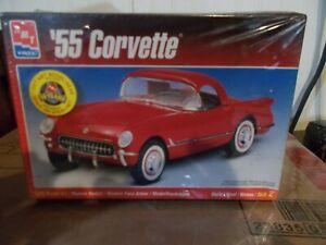 1955-55-Chevy-Corvette-AMT-ERTL-1-25-Model-Kit-6210-New-Sealed