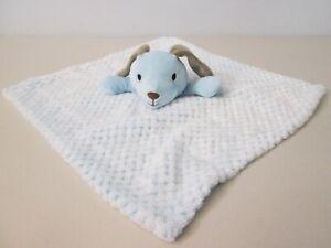 NWT Okie Dokie Blue Puppy Dog Security Blanket Soft Baby Lovey Toy RN 93677
