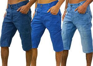 Mens-Eto-Designer-Jeans-Combats-Denim-Shorts-Stylish-Smart-Gym-Training-Cargo