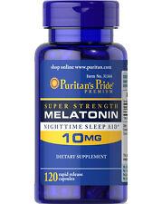 Puritan's Pride Melatonin 10 mg Night Time Sleep Aid 120 Capsules