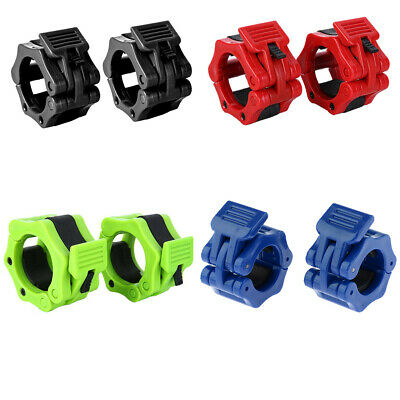 1 Inch//2 inch Spinlock Collars Barbell Dumbell Clips Clamp Weight Bar Lock 1pair